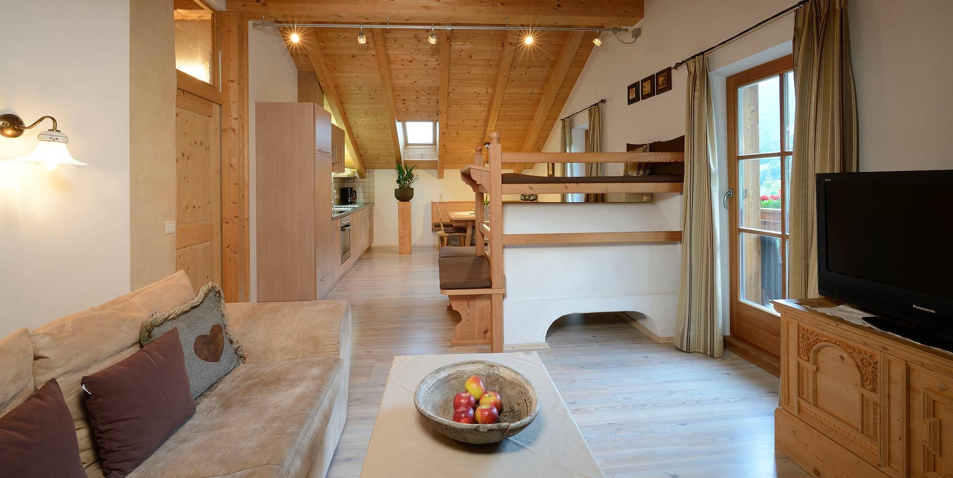 Rainer in der baurschaft agriturismo in valle aurina for Appartamenti bellissimi
